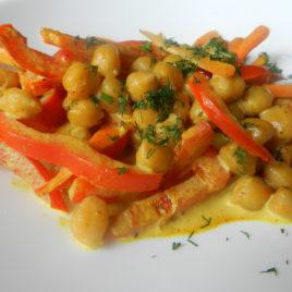 Королевский Нут с овощами