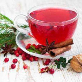 Чай имбирный с клюквой, лимоном и медом 200 мл