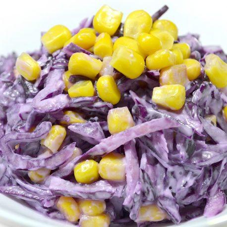 Салат из цветной капусты и кукурузки