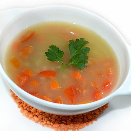 Суп с амарантом и красной чечевицей