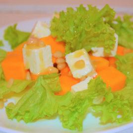 Салат «Тыковка» с фетой и кедровыми орешками