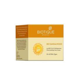 Солнцезащитный крем spf 50 (Biotique, India)