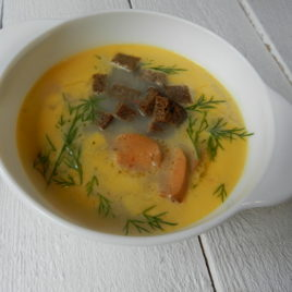 Суп Сырный с копченой колбаской