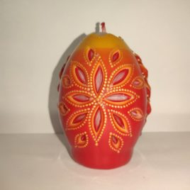 Свеча яйцо, ручная работа