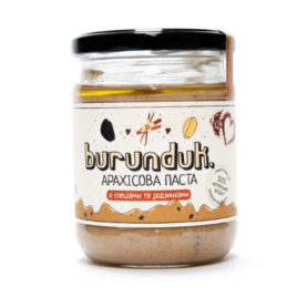 """Арахисовая паста """"С изюмом и специями"""", Burunduk"""