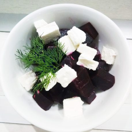 Салат со свеклы с фетой