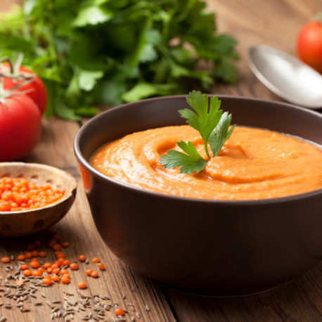 суп пюре чечевично морковный