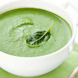 Суп-пюре шпинатный