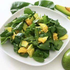 Салат Зелёный с апельсином и авокадо