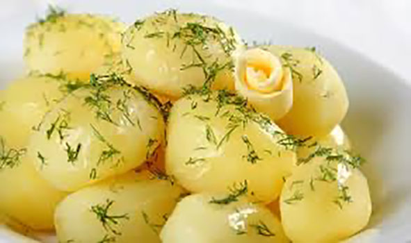 Картофель молодой с укропом